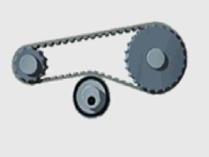 calculations pulley drive with tensioner