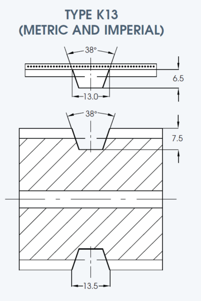 K13 Imperial Timing Belt drawing