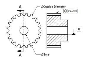 pulley technical drawing