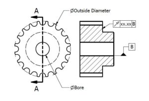 timing pulley spec diagram