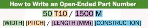 open ended part number example