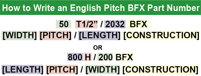 T 1/2 and H - BFX part number variations