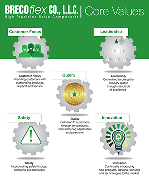 Brecoflex Five Core Values